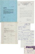 Baseball Collectibles:Others, 1947 Jimmie Foxx Handwritten & Signed Letter, PSA/DNA Mint9....