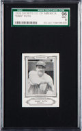 Baseball Cards:Singles (Pre-1930), 1926 Sports Co. of America Champions Babe Ruth (1926) SGC 96 Mint 9 - Pop One With None Higher! ...