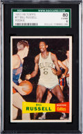 Basketball Cards:Singles (Pre-1970), 1957 Topps Bill Russell #77 SGC 80 EX/NM 6....