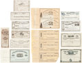 Western Expansion:Goldrush, Transportation, Mining, Etc.: Stock Certificates....