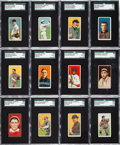 Baseball Cards:Lots, 1909-12 T205, T206, T207 and E95 SGC Graded Collection (108)....