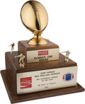 """Football Collectibles:Others, 1981 NFL Players Association """"NFL Offensive Lineman of the Year"""" Award Presented to John Hannah. ..."""