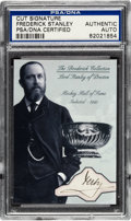 Autographs:Others, Circa 1900 Lord Stanley Signed Cut Signature Card from TheBroderick Collection, PSA/DNA Authentic. ...