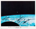 Autographs:Celebrities, Gemini 6A and Gemini 7 Color Photo Signed by Three. ...