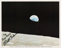 "Autographs:Celebrities, Bill Anders Signed Apollo 8 ""Earthrise"" Color Photo. ..."