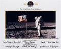 "Explorers:Space Exploration, Apollo 11 ""The First Words Ever Spoken..."" Limited Edition Print (#81/99) Signed by Buzz Aldrin and Charlie Duke. ..."