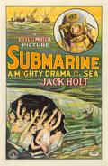 "Movie Posters:Action, Submarine (Columbia, 1928). One Sheet (26"" X 40"").. ..."
