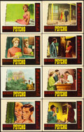 "Movie Posters:Hitchcock, Psycho (Paramount, 1960). Lobby Card Set of 8 (11"" X 14"").. ...(Total: 8 Items)"