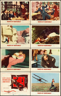 """North by Northwest (MGM, 1959). Lobby Card Set of 8 (11"""" X 14""""). ... (Total: 8 Items)"""