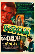 "Movie Posters:Horror, Bedlam (RKO, 1946). One Sheet (27"" X 41"").. ..."