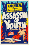 "Movie Posters:Exploitation, Assassin of Youth (Roadshow, 1937). Silk Screen One Sheet (28"" X42"").. ..."