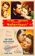 "Movie Posters:Hitchcock, Notorious (RKO, 1946). Title Lobby Card & Lobby Card (11"" X14"").. ... (Total: 2 Items)"