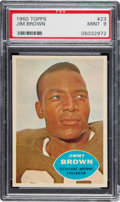 Football Cards:Singles (1960-1969), 1960 Topps Jim Brown #23 PSA Mint 9 - None Higher....