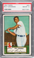 Baseball Cards:Singles (1950-1959), 1952 Topps Billy Goodman (Black Back) #23 PSA NM-MT 8....