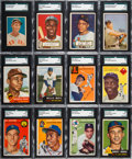 Baseball Cards:Lots, 1952 - 1954 Topps, Berk Ross and Bowman Shoe Box Collection (600+)....