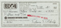 Autographs:Celebrities, Buzz Aldrin 1981 Personal Check Signed. ...