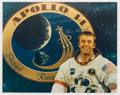 Autographs:Celebrities, Alan Shepard Signed White Spacesuit Color Photo. ...