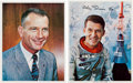 Autographs:Celebrities, Mercury Seven Astronauts: Wally Schirra and Deke Slayton SignedColor Photos. ... (Total: 2 Items)