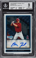 Baseball Cards:Singles (1970-Now), 2009 Bowman Chrome Draft Prospects Mike Trout Autograph #BDPP89 BGSMint 9 - 10 Autograph. ...