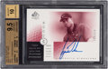 Golf Cards:General, 2001 SP Authentic Sign of The Times Red Tigers Woods Autograph #TW2 BGS 9.5 - 10 Autograph. ...