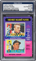 """Autographs:Sports Cards, Signed 1975 Topps """"1960 MVPs"""" #198 PSA/DNA Authentic - Signed byMaris & Groat. ..."""
