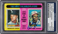 "Autographs:Sports Cards, Signed 1975 Topps ""1961 MVP's"" #199 PSA/DNA Authentic - Signed byMaris & F. Robinson. ..."
