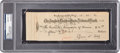 Baseball Collectibles:Others, 1932 Ty Cobb Signed Check, PSA/DNA Gem Mint 10. ...