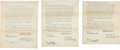 Golf Collectibles:Autographs, 1930's Wilson Golf Endorsement Contracts with Guldahl, Hutchison& Revolta....