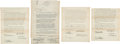 Golf Collectibles:Autographs, 1930's Wilson Golf Endorsement Contracts with Diegel, Hutchison& Revolta....