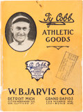 Baseball Collectibles:Others, Circa 1910 Ty Cobb Athletic Goods Catalog....