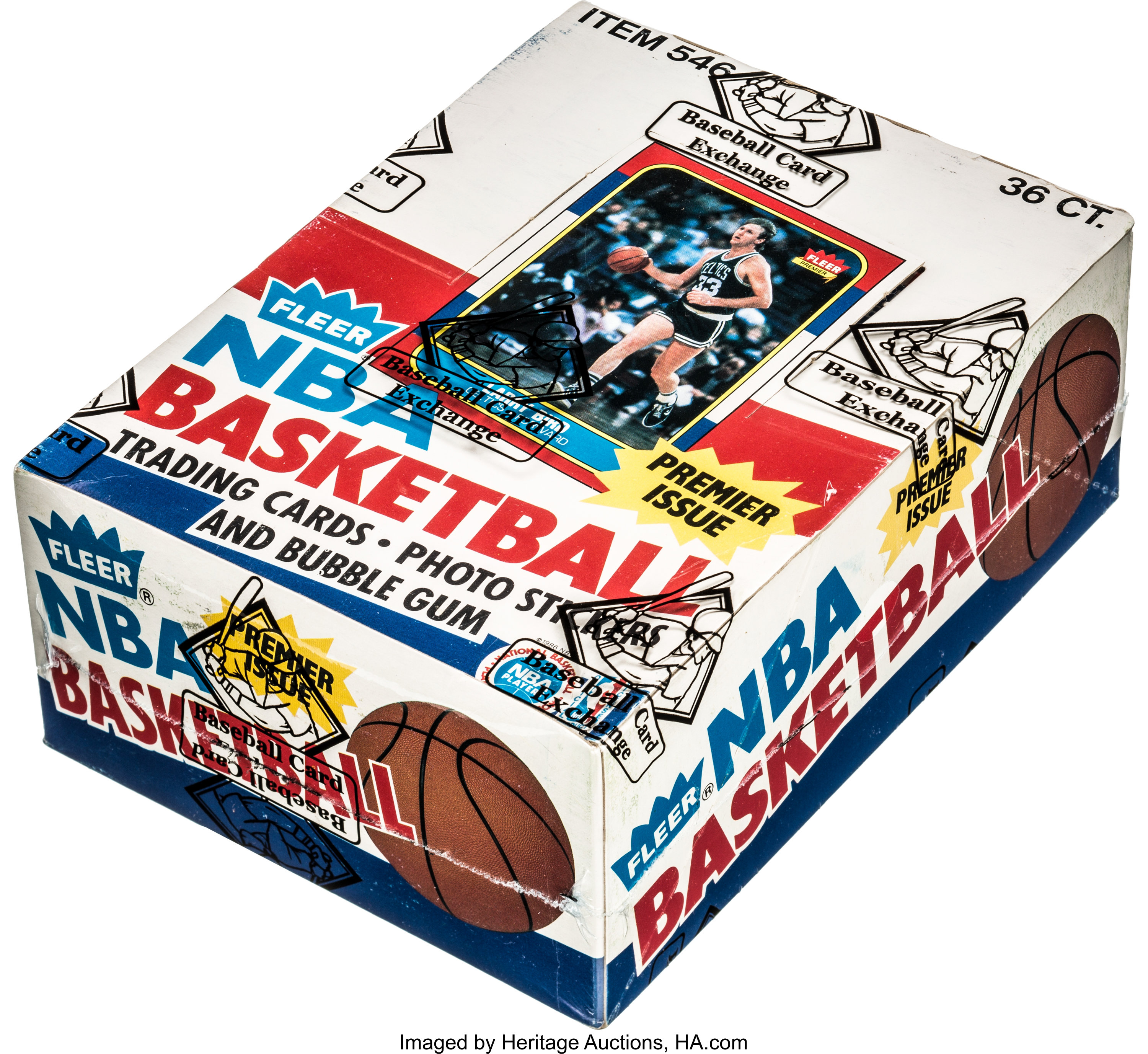1986 Fleer Basketball Wax Box With 36 Unopened Packs Lot 80827 Heritage Auctions