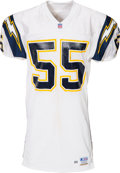 Football Collectibles:Uniforms, 1996 Junior Seau Game Worn San Diego Chargers Jersey....