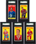 Hockey Cards:Lots, 1965 Topps Hockey SGC Graded Collection (5). ...
