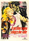 "Movie Posters:Film Noir, The Postman Always Rings Twice (MGM, 1947). Italian 4 - Fogli (56"" X 78""). Ercole Brini Artwork.. ..."