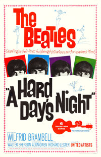 "A Hard Day's Night (United Artists, 1964). One Sheet (27"" X 41"")"