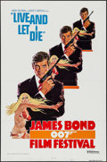 "Movie Posters:James Bond, James Bond Film Festival -- Live and Let Die (United Artists,R-1976). International One Sheet (27"" X 41"") Style A. James Bo..."