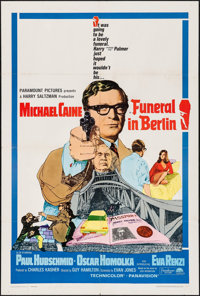 """Funeral in Berlin (Paramount, 1966) Folded, Fine/Very Fine. One Sheet (27"""" X 41""""). Thriller"""
