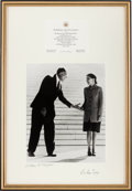 Autographs:Statesmen, Chief Justice William H. Rehnquist and Justice Ruth Bader GinsburgSigned Photograph. ...