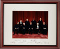 Autographs:Statesmen, Roberts Supreme Court Formal Photograph Signed by all NineJustices....