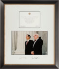 Autographs:Statesmen, Chief Justice John G. Roberts, Jr. and Associate Justice John PaulStevens Signed Photo. ...