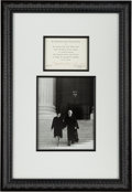 Autographs:Statesmen, Associate Justice Sandra Day O'Connor Signed Invitation...