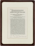 Autographs:Statesmen, Associate Justice Sandra Day O'Connor Signed Slip Opinion ...
