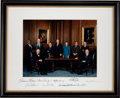 Autographs:Statesmen, Rehnquist Supreme Court Oversized Color Photograph Signed by All Nine Justices. ...