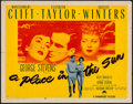 "Movie Posters:Drama, A Place in the Sun (Paramount, 1951). Half Sheet (22"" X 28"") StyleB. Drama.. ..."