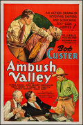 "Movie Posters:Western, Ambush Valley (Reliable, 1936). Flat Folded One Sheet (27"" X 41""). Western.. ..."