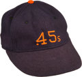 Baseball Collectibles:Hats, 1960's Chris Zachary Game Worn Houston Colt 45's Cap. ...