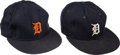 Baseball Collectibles:Hats, 1980's Detroit Tigers Game Worn Caps Lot of 2. ...