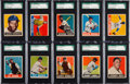 Baseball Cards:Lots, 1948 Leaf Baseball SGC Graded Collection (10) With Jackie Robinson....