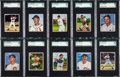Baseball Cards:Lots, 1950 Bowman SGC Graded Collection (10). ...