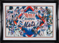 Baseball Collectibles:Photos, 1986 New York Mets Team Signed Oversized Photograph Collage fromThe Gary Carter Collection....